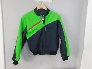 1980's 90's Ladies Arctic Cat Arcticwear Neon Green and Black Coat Jacket