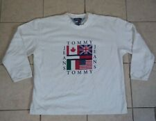 Rare Vtg TOMMY HILFIGER Big Logo USA FLAG OLYMPICS SWEATSHIRT 90s Color Block