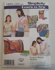 New Simplicity Pattern #1935-Patchwork Quilting Bags-Learn to Sew Quilt Lining