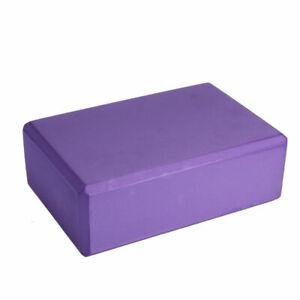 1pc Purple Yoga Fitness Block EVA Foam Brick Pilates Tool Gym Workout Stretching