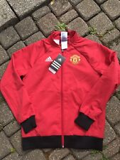 NWT ADIDAS Manchester United 2016 Woven Anthem Jacket Youth Boys Medium 10/12