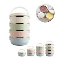 1/2/3/4 Layers Stainless Steel Lunch Box Bento Thermal Insulated Food Container