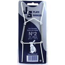 WIRE PLATE HANGERS (WHITE) MEDIUM PLATE 19-28cm NEW