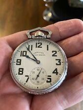Watch With Salesman Case. Beautiful Condition Hamilton 992 B Rr Special Pocket