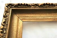 "SM ANTIQUE FITS 4 X 6"" COUNTRY PRIMITIVE GOLD WOOD ORNATE PICTURE FRAME FINE ART"