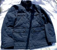 Ted Baker London Gents Quilted Harrington Jacket Navy Blue 6 2XL UK Design Used
