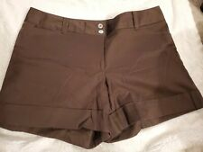 White House Black Market Size 12 Brown Cuffed Shorts.      GR