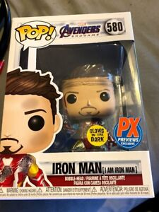 Funko Pop Avengers Endgame I Am Iron Man Glows In The Dark PX Previews Exclusive