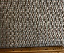 "Cream/Blue/Gold Woven Spun Satiny 100% Silk Fabric 44"" W, By The Yard (WT-402)"