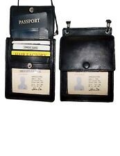 2 New Black Leather passport case wallet Card case ID Holder BNWT Lowest Price
