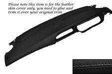 BLACK STITCHING TOP DASH DASHBOARD LEATHER COVER FITS RENAULT MEGANE MK1 96-03