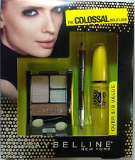 Maybelline The Colossal Bold Look The Colossal Mascara + Eyeliner +Eyeshadow SET