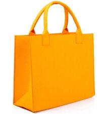 Felt Handbag Purse Tote Bag Summer Casual Bag Durable High Quality Orange