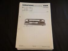 Original Service Manual Grundig TT1