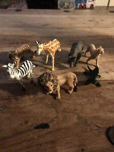 Safari Jungle Zoo Wild Animal Figures Plastic Toys Figure Set