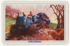 Playing Cards 1 Single Swap Card Vintage JACK OLDING Tractor FARMER Farming 2