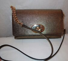 NWT COACH METALLIC GOLD PEBBLE LEATHER CROSSTOWN PURSE 36335 $195
