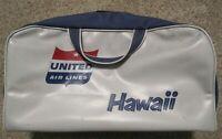 1954-1961 LOGO UNITED AIR LINES HAWAII VINYL ON-BOARD TRAVEL BAG-UNITED AIRLINES