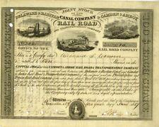 Joint Stock of Delaware & Raritan Canal Company & Camden & Amboy Railroad - sign