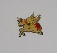 Vintage Mythical Fantasy Tan Unicorn Lapel Brooch Pin