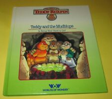 "Vintage 1985 Teddy Ruxpin Bear ""Teddy And The Mudblups"" Book Worlds Of Wonder"