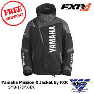 Yamaha Mission X Snowmobile Jacket by FXR Sizes LG XL 3X SMB-17JMX-BK