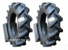 TWO TIRES 6-14 size LRB Compact Tractor AG LUG tires - TUBES INCLUDED