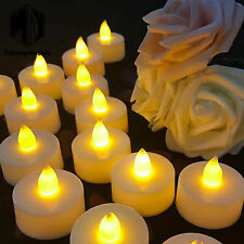 12Pc LED Flickering Flame Battery Tea Lights Flameless Candle Dinner Candle A2TM