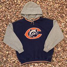 Vintage 90s Chicago Bears Starter Sweatshirt Blue Pullover Hoodie Sz XL Big Logo