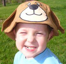 NEW Novelty Animal Bucket Sun Hat TEDDY BEAR Boys Girl Sunhat Cap Bucket Hats