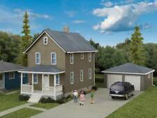 Walthers Cornerstone HO Scale Building/Structure Kit Two-Story House with Garage
