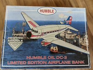 Humble Oil DC-3 Die-Cast Commemorative Airplane Bank