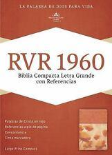 RVR 1960 Biblia  Letra Grande con Referencias, damasco y coral simil 14 ptos