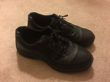 "SKETCHERS - SLIP RESISTANT WORK SHOE ""STREETCAR"" 12"" MENS MED WD BLACK PRE-OWNED"