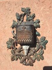 Cast iron Match striker/holder. Antique original paint