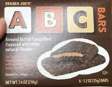 2pk Trader Joes Vegan ABC Bars 6 bars 1.2oz ea Almond Butter Cocoa Bar