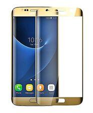 3D CURVED Gehärtetes HD+ Panzerglas für Samsung Galaxy S6 Edge + Plus - GOLD ▄▀