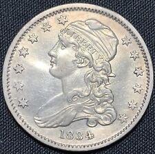 1834 25c Capped Bust Quarter - AU