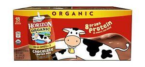 Horizon Organic Shelf-Stable 1% Lowfat Milk Boxes with DHA Omega-3, Chocolate...