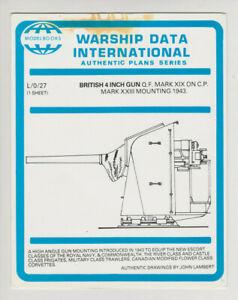 Warship Data International plans L/0/27 British 4 inch gun Mark XIX on Mark XXII