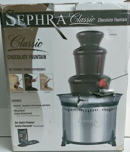 """Sephra A Classic 3 Tier Chocolate Stainless Steel Fountain 18""""Hx10 3/4""""W"""