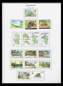 SEYCHELLES 1982-83 ISSUES ON 4 PAGES (LHM/UHM) *CLEAN & FRESH*