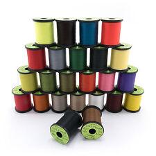 UNI THREAD 8/0 - Waxed Fly Tying & Jig Thread - 200 yd Spools in 20+ Colors NEW!