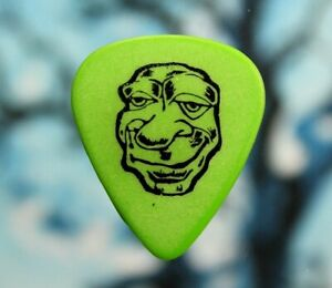 Green Day // Mike Dirnt 1997 Tour Guitar Pick // Green/Black (Blank Back)