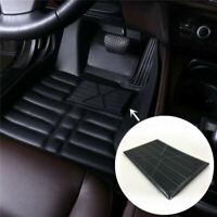 Universal Black PVC Car Floor Carpet Pad Heel Foot Mat Pedal Patch Cover 25x15cm