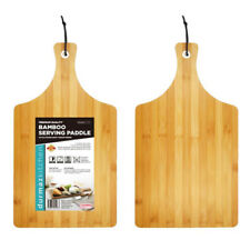 Large Bamboo Wood Serving Paddle Chopping Board 45cm X 25cm Grazing Table