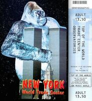 World Trade Center Pre 9/11 2001 Observatory Ticket Adult WTC King Kong Postcard