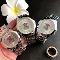 Colorful Diamond Bear Watch Fashion Trend Female Watch Wristwatches Set