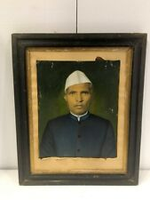 Antique Artist Fine Oil Painting Old Indian Man In White Cap Rare