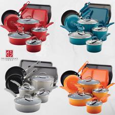 12 Piece Cookware Set Nonstick Enamel Non Stick Enamel Pots Pans by Rachel Ray